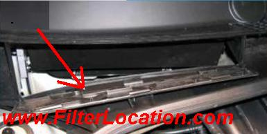 Citroen C2 locate cabin air filter