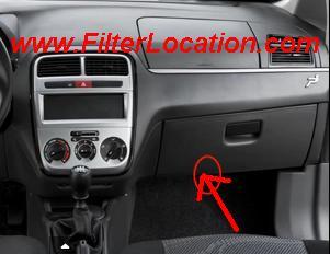 Fiat Punto cabin air filter location