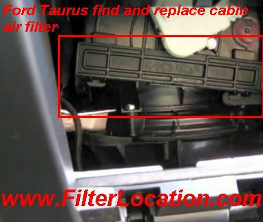 Ford Taurus find and replace cabin air filter
