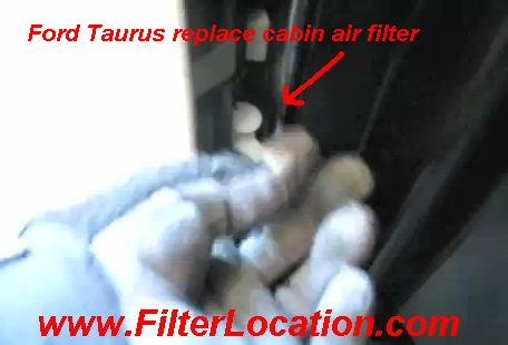 Ford Taurus replace cabin air filter
