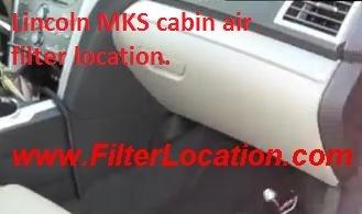 Lincoln MKS cabin air filter location | FilterLocation.com