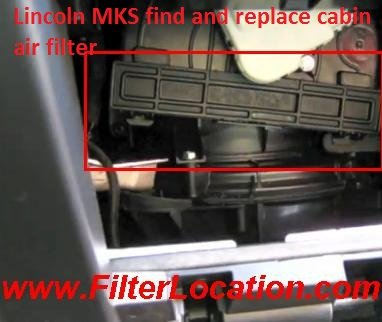 Lincoln MKS find and replace cabin air filter