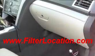 Lincoln MKT cabin air filter location.