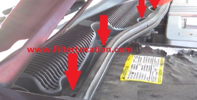 Locate Cadillac CTS cabin air filter