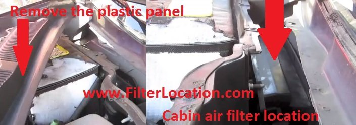 Locate Cadillac CTS pollen filter
