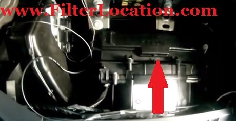 Dodge Avenger cabin air filter location