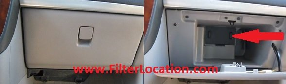 oldsmobile sillouete cabin air filter location
