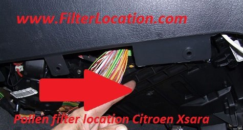 Pollen filter location Citroen Xsara