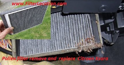 Pollen filter remove and  replace  Citroen Xsara