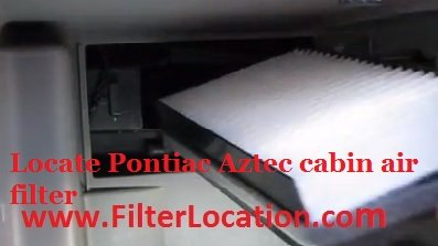 Replace Pontiac Aztec cabin air filter
