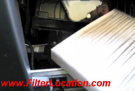 Replace cabin air filter Ford Explorer with new one