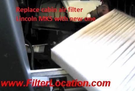 Replace cabin air filter Lincoln MKS with new one