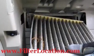 2007-2013 Toyota Camry cabin air filter location