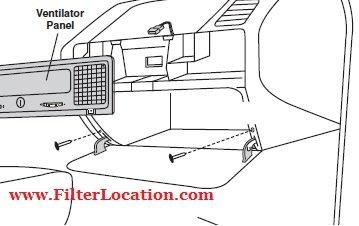 BMW 318 remove glove compartment door