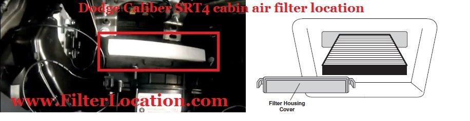 Cabin air filter location Dodge Caliber SRT4