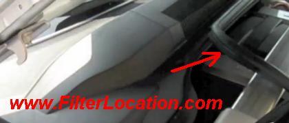 Chevrolet Camaro cabin air filter location