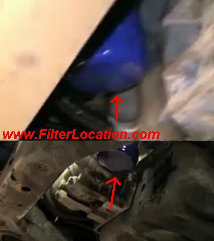 Chevrolet Impala oil filter lcoation