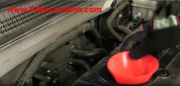Chevrolet impala insert oil in the engine