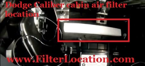 Dodge Caliber cabin air filter location and replacement