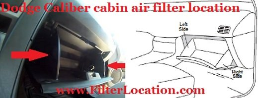 Dodge Caliber cabin air filter location