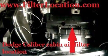 locate dodge caliber cabin air filter