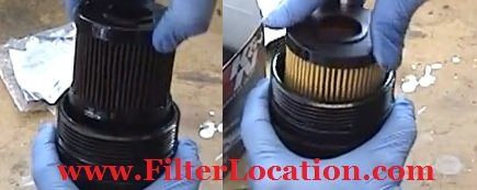 Toyota Camry old filter oil replacement