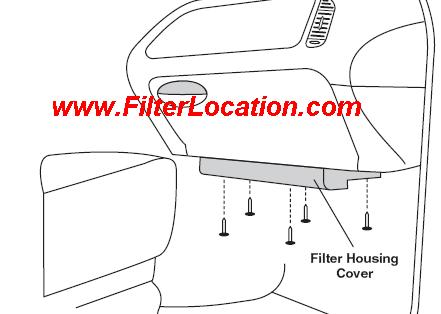 Locate Ford F Series cabin air filter