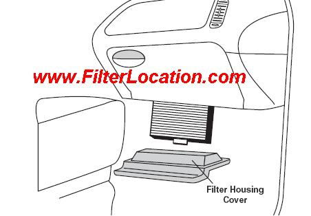 Locate and replace ford F Series cabin air filter