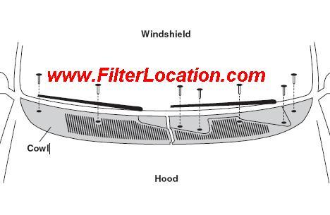 Mercury Mystique cabin air filter location