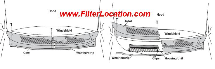 Replace Ford Contour cabin air filter