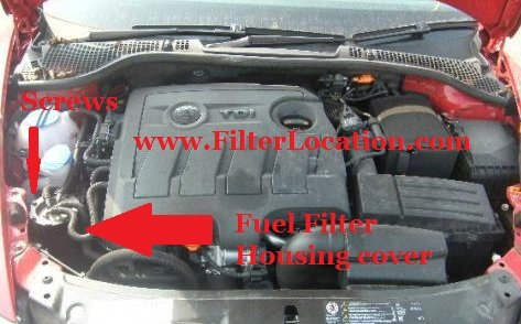 Skoda Octavia 2 facelift fule filter location