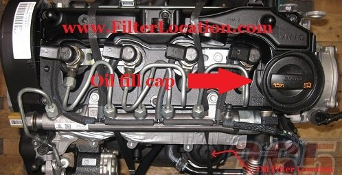 Skoda Octavia II facelift oil fill cap