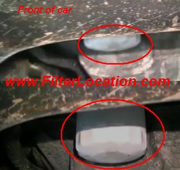 Chevy Uplander oil filter location
