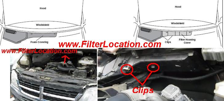 Dodge Sprinter pollen air filter location