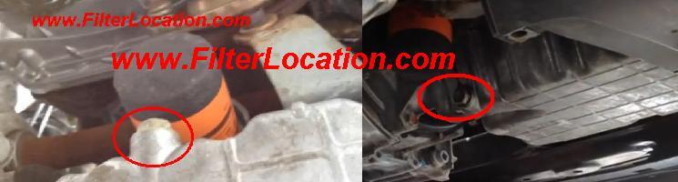 Where is locate Acura TSX oil drain plug