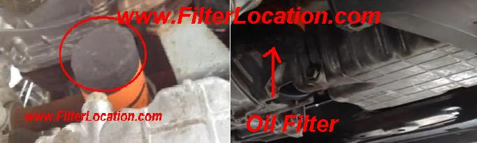 Where is located Acura Tsx oil filter