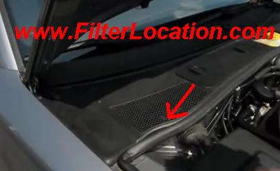 Locate VW Golf cabin air filter