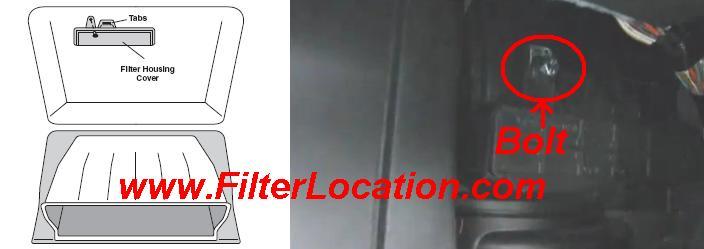 Nissan  Xterra cabin air filter housing cover