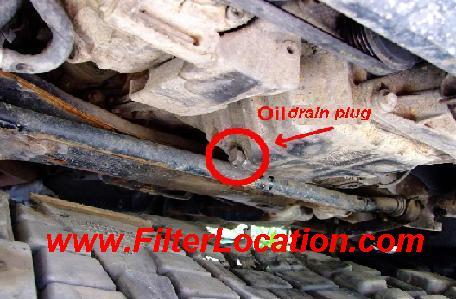 VW Passat drain oil plug