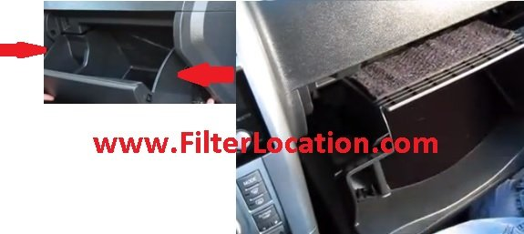 2000-2006 toyota echo cabin air filter location