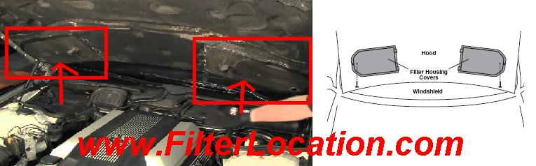 Bmw 750iL cabin air filter location