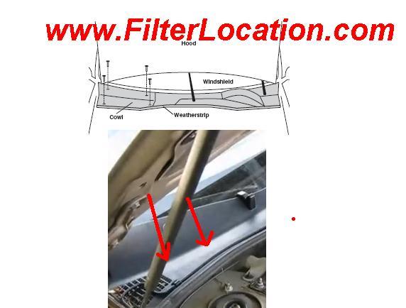 Chevrolet Lumina cabin air filter location