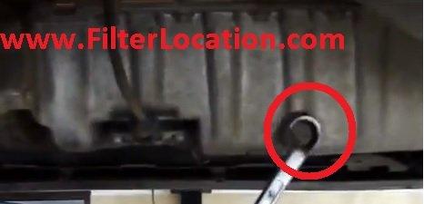Filter Location drain plug