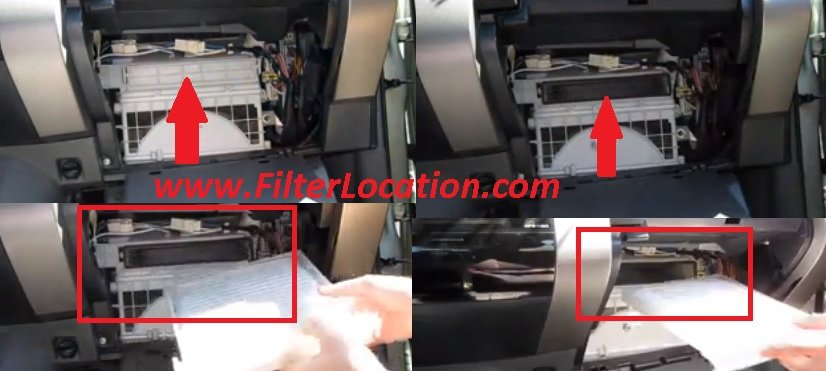 Toyota Sienna cabin air filter locate and replacement