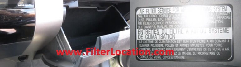 Verify if Toyota Sienna have cabin air filter