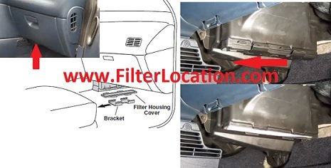 Locate Dodge caravan cabin air filter