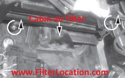 Locate Fiat Strada cabin air filter
