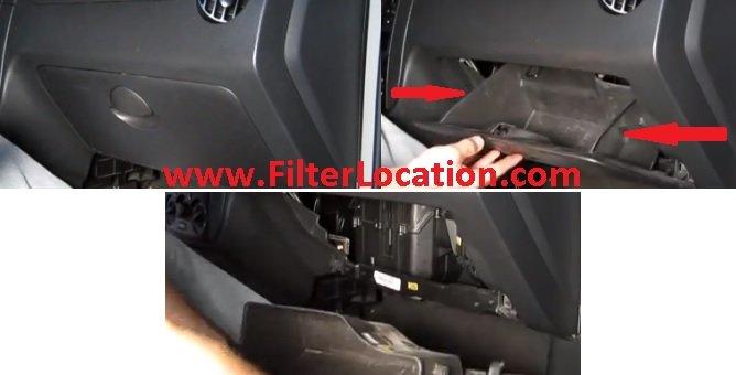 Locate Suzuki Swift cabin air filter
