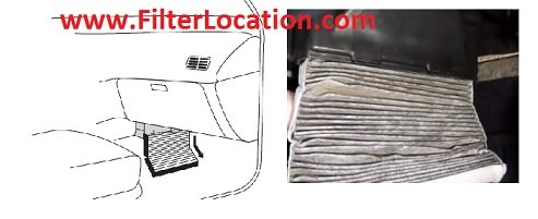 Replace Chrysler Pacifica cabin air filter location