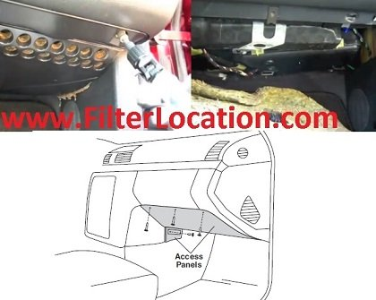 Chrysler Crossfire SRT6 cabin air filter location
